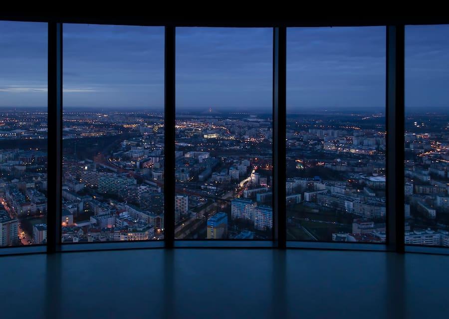 Widok na Wrocław nocą